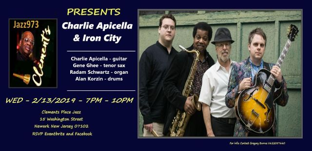 jazz973 presents charlie apicella & iron city atclements place