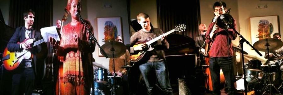 njpac jazz jam with Eyesha Marable with peter Lin