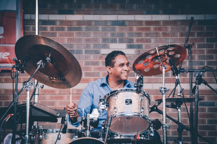 Ronnie Burrage Drummer at Clements Place Jazz