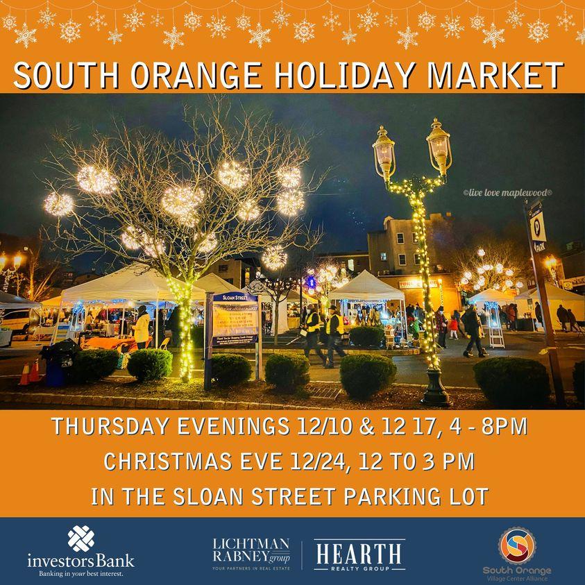 south orange village center holiday open air market